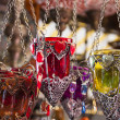 Turkish candle holders in a bazaar — Stock Photo