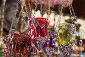 Turkse kaarsenbakjes in een bazaar — Stockfoto
