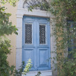 Antique blue door in Simi — Foto Stock #29189699