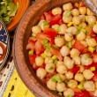 Chickpeas and tomato salad — Stock Photo #30058887