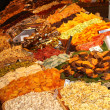 Dry fruits stall in a traditional market — Stock fotografie