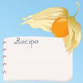 Recipe card — Stock Vector