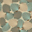Vector seamless vintage pattern with colorful shells — Stock Vector