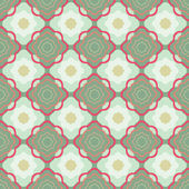 Vintage vector seamless pattern with simple decorative elements — Stock Vector