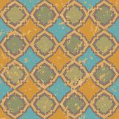 Seamless geometric shabby pattern — Stock Vector