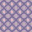 Floral geometric pattern on lilac background — Stock Vector