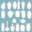 Set of bottle icons — Stock Vector