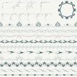 Collection of decorative borders — Stok Vektör #29931195