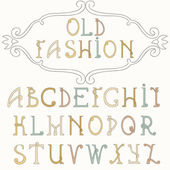 Old fashion font — Stock Vector