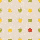 Simple grange pattern with apples — Stock Vector