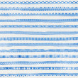 Striped light blue watercolor background with ethnic ornaments — Stock Photo #33573989