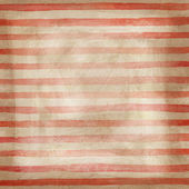 Watercolor striped background with red stripes on brown paper — Stock Photo