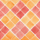 Yellow and red watercolor background — Foto de Stock