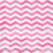 Watercolor background with pink zigzag stripes — Stock Photo