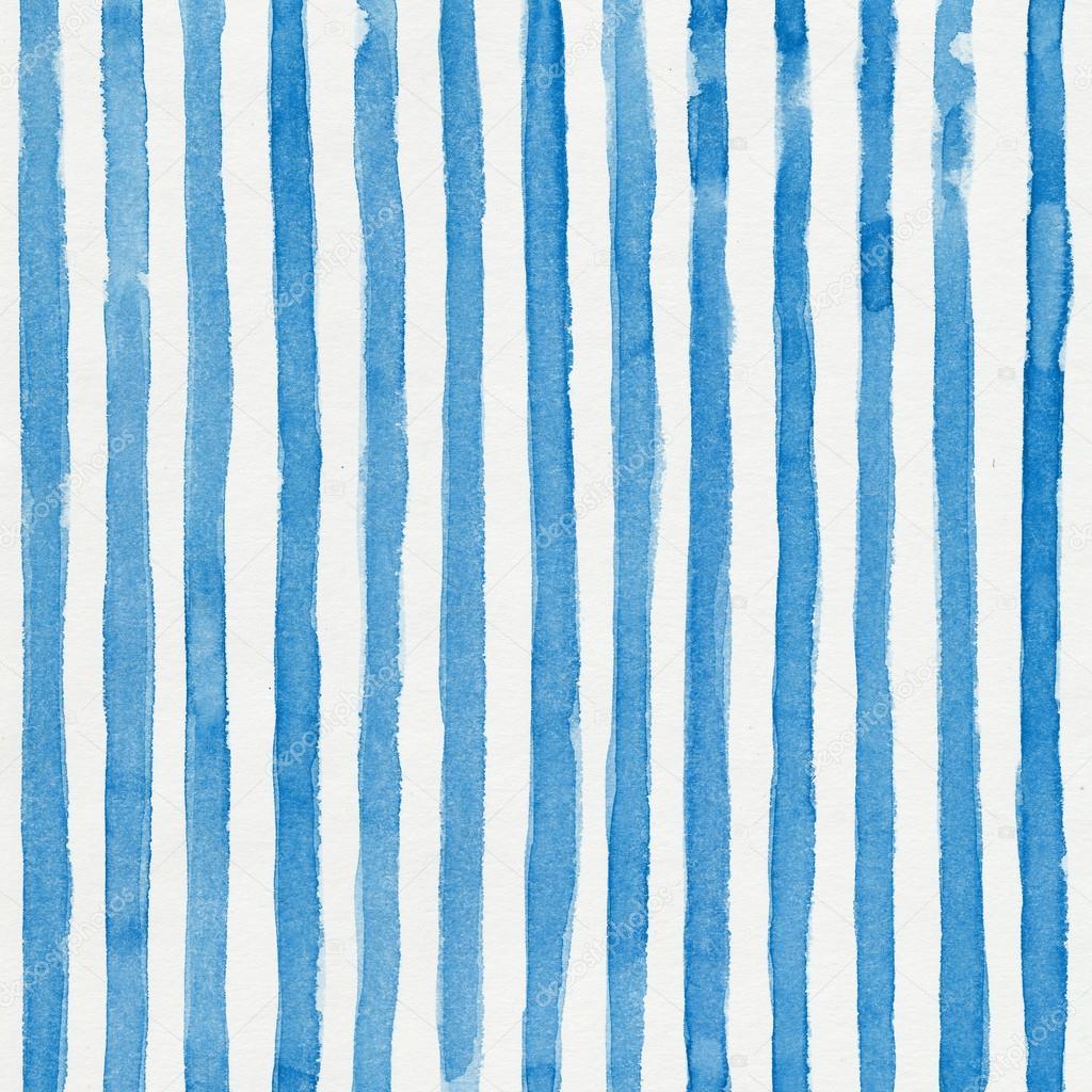 具垂直的蓝色条纹的水彩条纹的背景