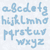 Decorative blue hand drown font — Stock Vector