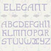 Elegant hand drown font — Stock Vector