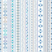 Abstract geometric ornamental pattern in light blue colors — Stock Vector