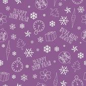 рождество бесшовный образец — Cтоковый вектор