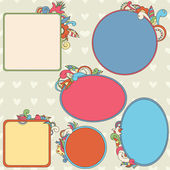 Collection of ornamental frames — Stock Vector