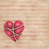 Watercolor associated heart — Stock Photo