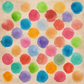 Watercolor hand painted colorful cirles — Stock fotografie