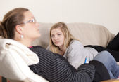 Troubled mother — Stock Photo