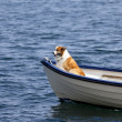 Riding a Boat — Stock Photo