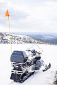 Snow Scooter in Swedish mountains — Stock Photo