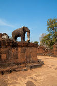 Elephant of one of the temple in Angkor — Stock Photo