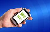 Nfc technologie in smartphone — Stockfoto