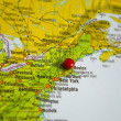 ������, ������: The city of Boston marked on the map of the Usa east coast
