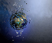 Exploding world in space — Stock Photo