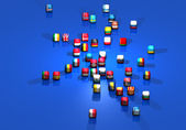 Banderas europeas — Foto de Stock