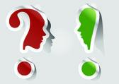 Unusual exclamation mark, question mark — Stock Vector