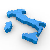3D Map of Italy — Stock Photo