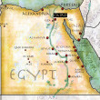 Map of Egypt, antique effect, parchment — Stock Photo #29219603