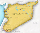 Map of Syria — Stock Photo