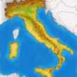 Physical Map of Italy illustration — Stock Photo