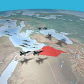 Middle East as seen from space. Syria map — Stock Photo