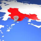 Typhoon Usagi China map alarm — Stock Photo