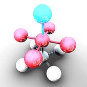 Molecule and atom — Stock Photo