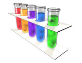 Test tube chemical analysis laboratory — Stock Photo