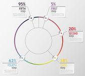 Infographic examples — Stock Photo