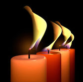 Candle flame light — Stock Photo