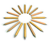 Circle-shape pencils — Stock Photo