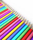 Colorful pencil row — 图库照片