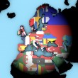 Europe world map with flags — Stock Photo