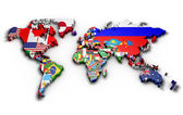 Political map of world — Stock Photo