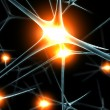 Brain neurons synapse functions — Stock Photo